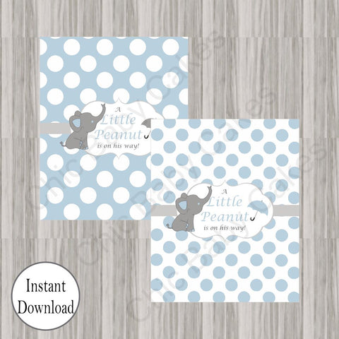 Little Peanut Candy Bar Labels - Blue