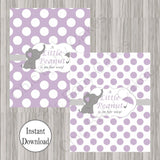Little Peanut Candy Bar Labels - Purple