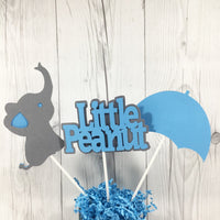 Blue & Gray Little Peanut Centerpiece Sticks