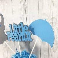 Little Peanut Centerpiece Sticks - Blue & Gray
