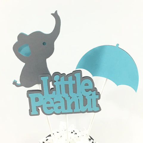 Little Peanut Centerpiece Sticks - Light Teal, Gray