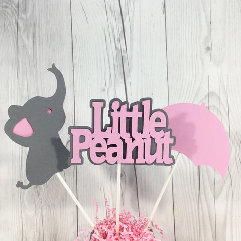Little Peanut Centerpiece Sticks - Pink, Gray