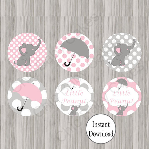 Little Peanut Cup Cakes Toppers - Pink