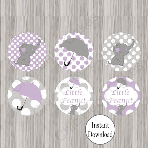 Little Peanut Cupcake Toppers - Purple