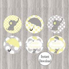 Little Peanut Cupcake Toppers - Yellow