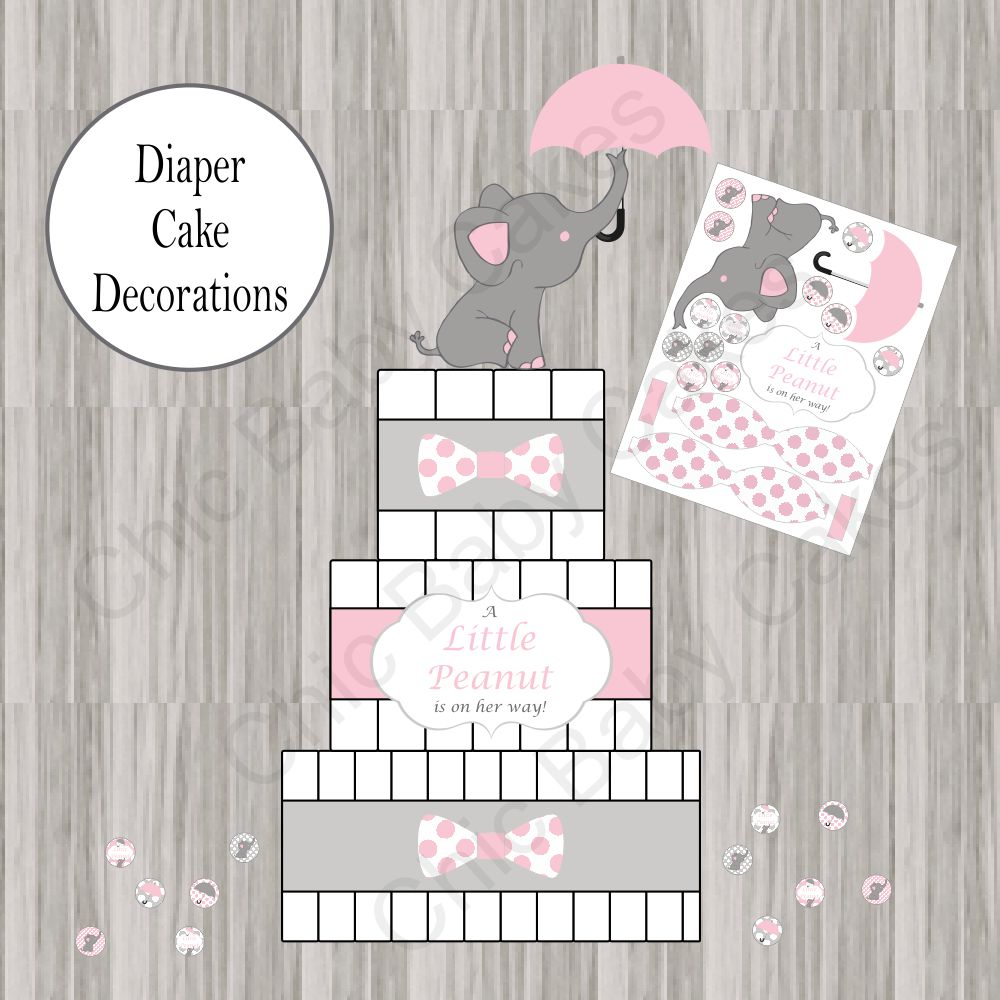 Little Peanut Baby Shower Decoration Pack - Pink  Chic -3545