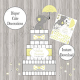 Little Peanut Diaper Cake Decorations - Yellow