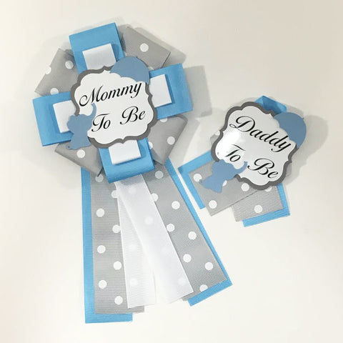 Little Peanut Mommy & Daddy-to-Be Pin - Blue