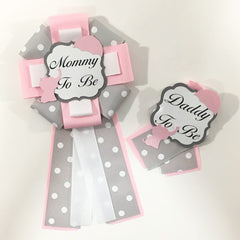 Little Peanut Mommy & Daddy-to-Be Pin - Pink