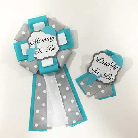 Little Peanut Mommy & Daddy-to-Be Pin - Teal