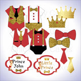 Little Prince Clipart- Red, Gold