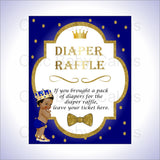 Printable Little Prince Diaper Raffle Combo, Black