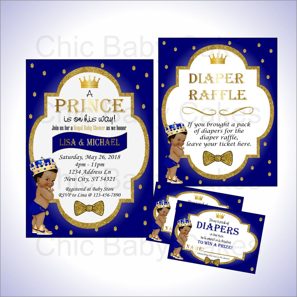 Prince Invite & Diaper Raffle Bundle