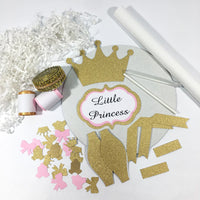 Pink and Gold Little Princess Diaper Cake Kit