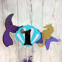 Mermaid 1st Birthday Centerpiece Sticks