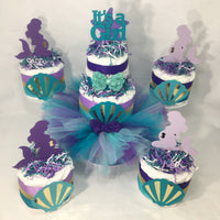 Mermaid It's a Girl Tutu Diaper Cake Set