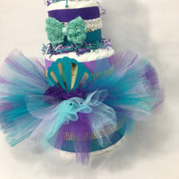 Mermaid Tutu Diaper Cake Centerpieces
