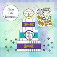 Pregnant Mermaid Diaper Cake Clipart
