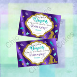 Pregnant Mermaid Baby Shower Diaper Raffle Set