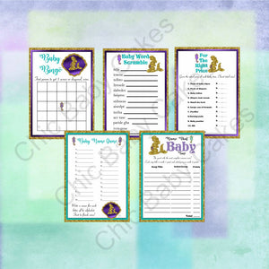 Pregnant Mermaid Baby Shower Games