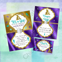 Pregnant Mermaid Baby Shower Invite Set