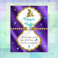 Pregnant Mermaid Baby Shower Diaper Raffle Sign