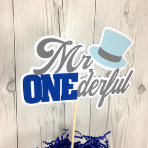 Mr. Onederful Birthday Party Cake Topper