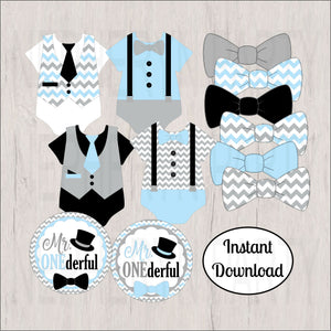 Mr. Onederful Printable Clipart Decorations