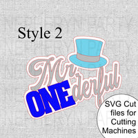 Mr. Onederful Cake Topper SVG Style 2