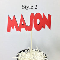 Set of 4 Name Toppers