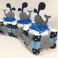 1-tier Whale Diaper Cake Centerpiece