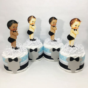 Oh Boy Baby Shower Mini Diaper Cake Centerpieces