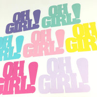 Oh Girl Word Cutouts