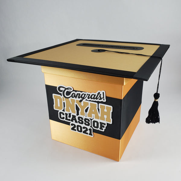 Gold & Black Graduation Card Box