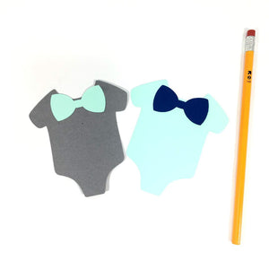 Baby T-Shirt with Bow Tie Cutouts