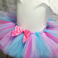 Lavender, Pink, & Blue Fluffy Tutu Skirt