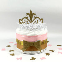 Pink & Gold Little Princess Small Diaper Cake