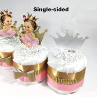 Princess Diaper Cake Set - Pink, Gold