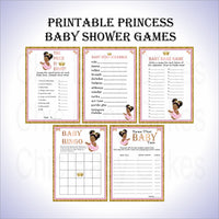 Pink and Gold Little Princess Baby Shower Games