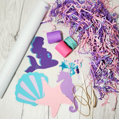 Lavender, Pink, & Aqua Mermaid Diaper Cake Kit