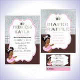 Princess Baby Shower Decorations - Pink, Brown, Silver