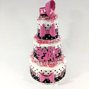 Minnie Mouse Diaper Cake Centerpiece