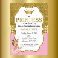Pink & Gold Little Princess Baby Shower Invitation, Blonde