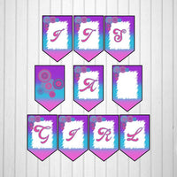 Pink, Blue, & Purple Girl Baby Shower Banner
