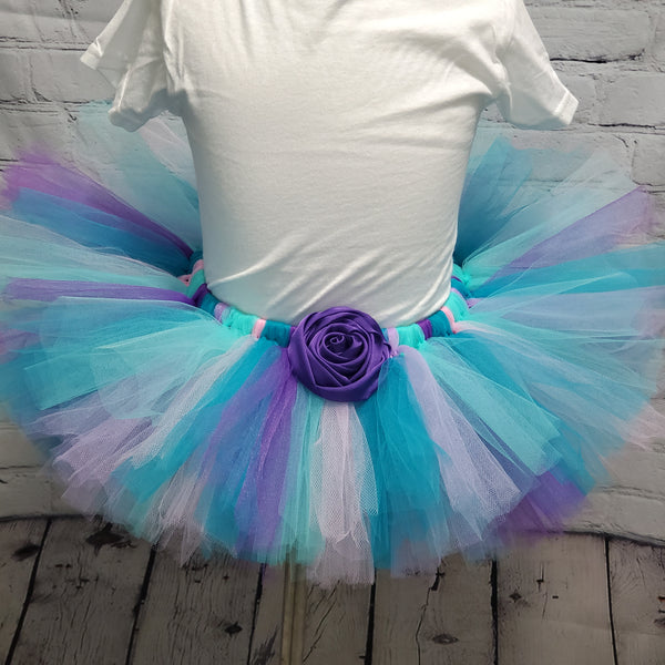 Purple and Teal Mermaid Tulle Tutu Skirt