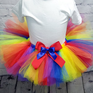 Rainbow Colors Tulle Tutu Skirt
