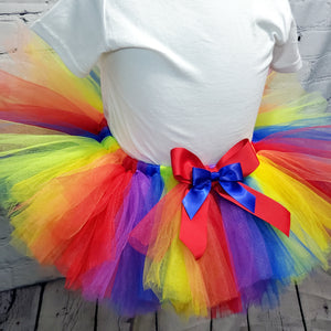 Rainbow Tulle Tutu Skirt