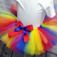 Rainbow Fluffy Tutu Skirt