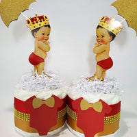 Red & Gold Royal Prince Mini Diaper Cake
