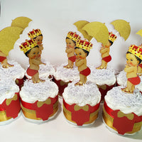 Red and Gold Little Prince Diaper Cake Set